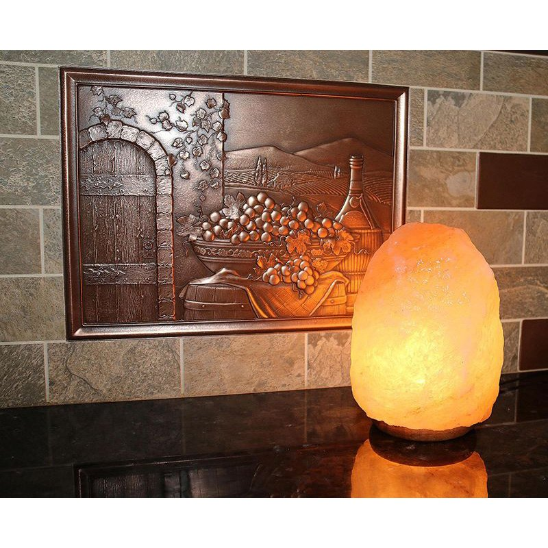 """Accentuations by Manhattan Comfort 8"""" Natural Shaped Himalayan Salt Lamp 1.8 with dimmer - Set of 2 (2-AMC95005)"""