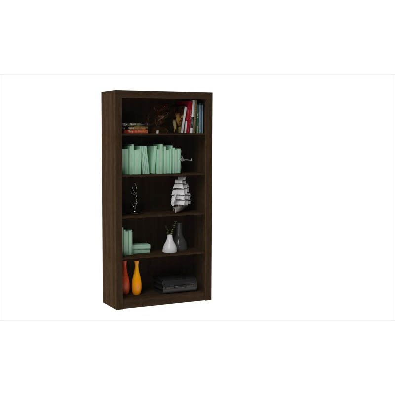 Accentuations by Manhattan Comfort Classic Olinda Bookcase 1.0 with 5-Shelves in Tobacco