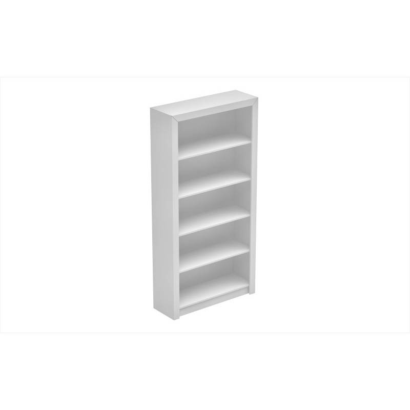 Accentuations by Manhattan Comfort Classic Olinda Bookcase 1.0 with 5-Shelves in White