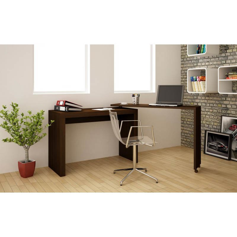 Accentuations by Manhattan Comfort Innovative Calabria Nested Desk in Tobacco
