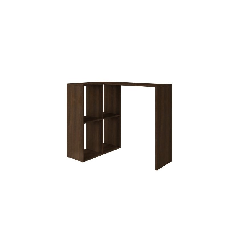 Accentuations by Manhattan Comfort Pescara Cubby Desk with 4 Shelves in Tobacco