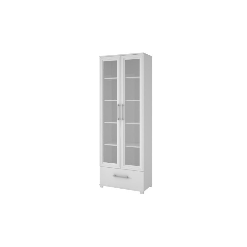 Accentuations by Manhattan Comfort Serra 1.0 - 5 Shelf Bookcase in White