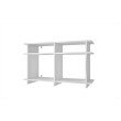 Accentuations by Manhattan Comfort Suitable Wellington TV Stand with 4 Open-Shelves in White