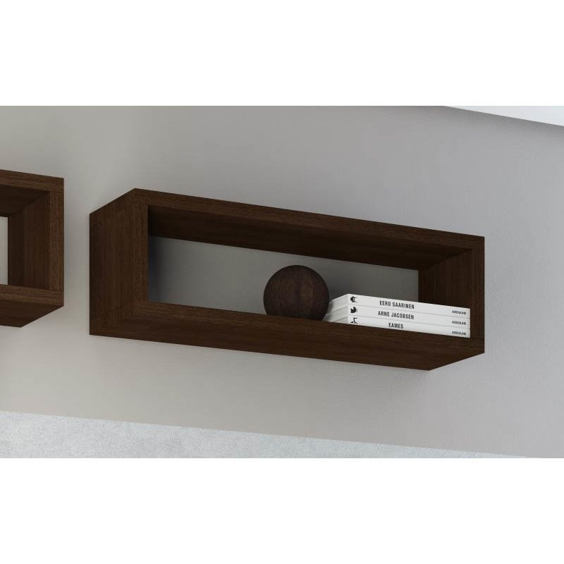 Accentuations by Manhattan Comfort Tichla Rectangle Floating Shelf 2.0 in Tobacco