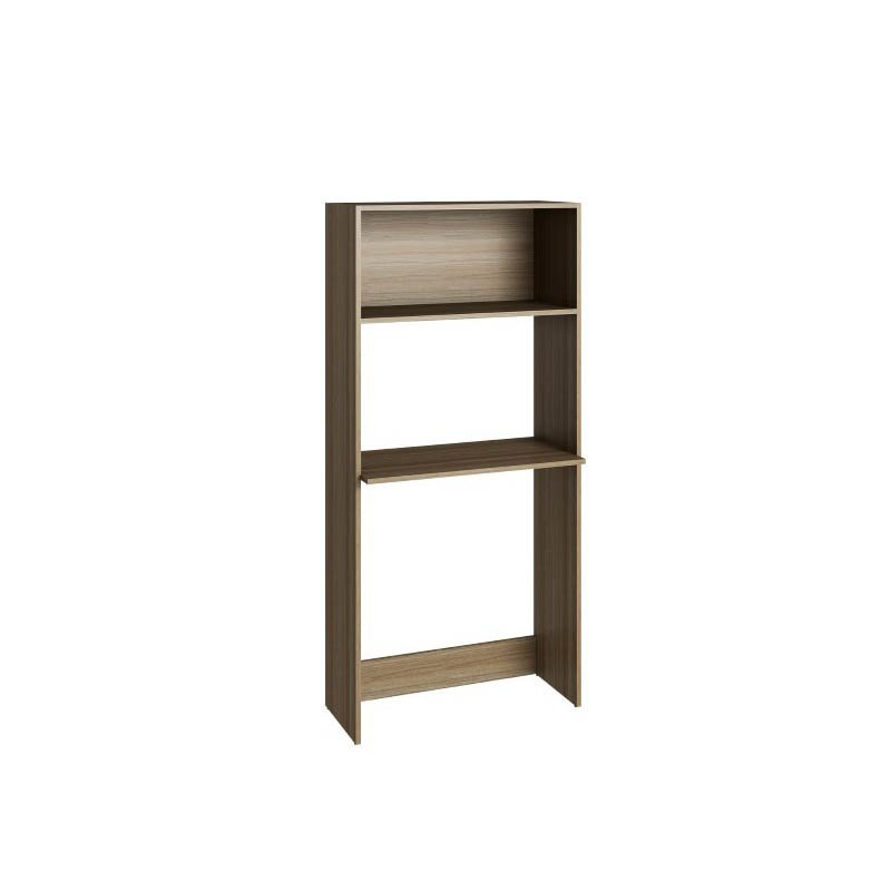 Accentuations by Manhattan Comfort Useful Parma Work Desk and Bookcase with 1 wide Shelf in Oak