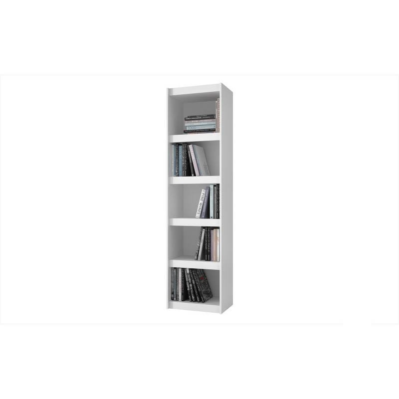 Accentuations by Manhattan Comfort Valuable Parana Bookcase 2.0 with 5-Shelves in White