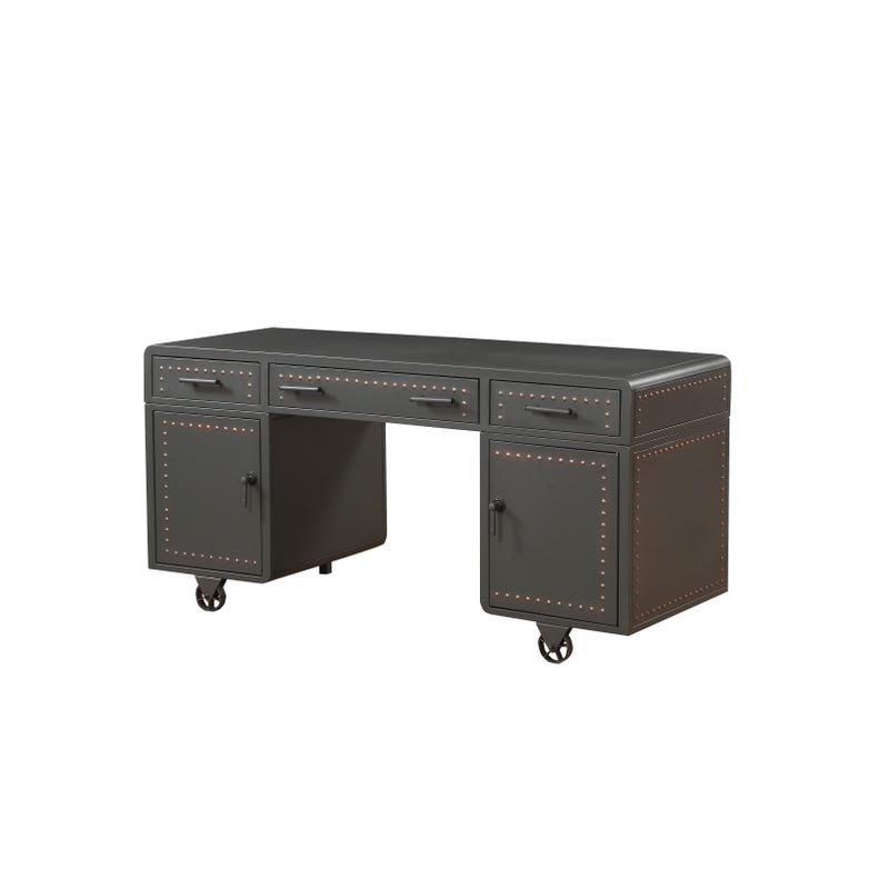 ACME Furniture Actaki Executive Desk in Sandy Gray (92430)