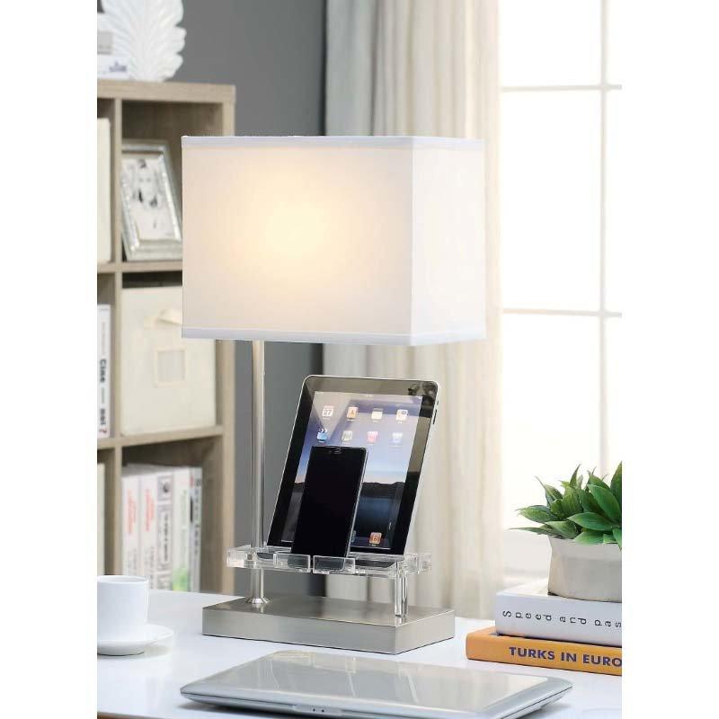 ACME Furniture Alain Table Lamp in Sand Nickel (40120)