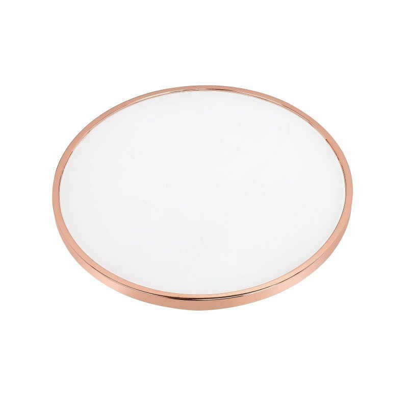 ACME Furniture Alivia Coffee Table in Frosted Glass and Rose Gold (81835)