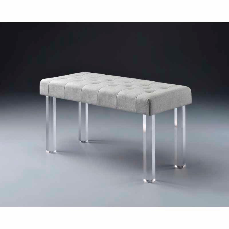 ACME Furniture Bagley Bench in Linen & Clear Acrylic (96510)
