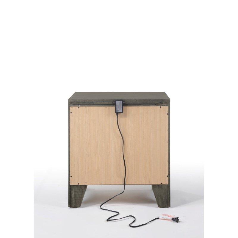 ACME Furniture Blaise 2-Drawer Nightstand in Gray Oak (97492)