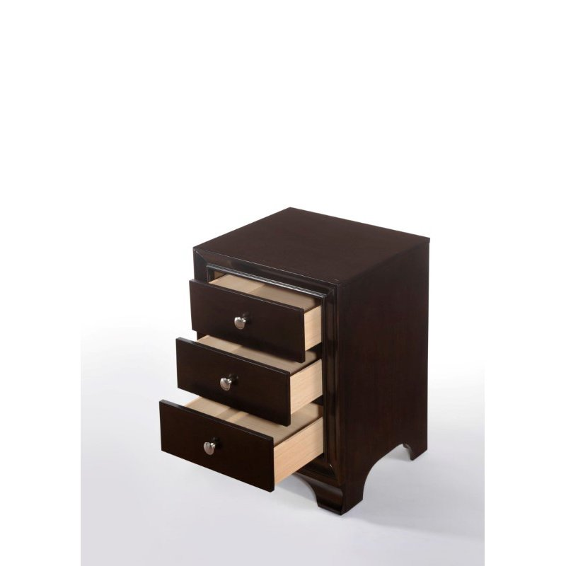 ACME Furniture Blaise 3-Drawer Nightstand in Espresso (97506)