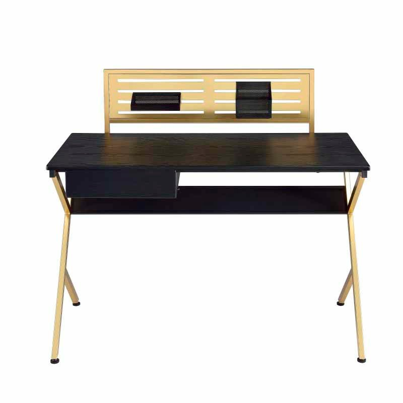 ACME Furniture Bolles Desk in Black and Gold (92332)