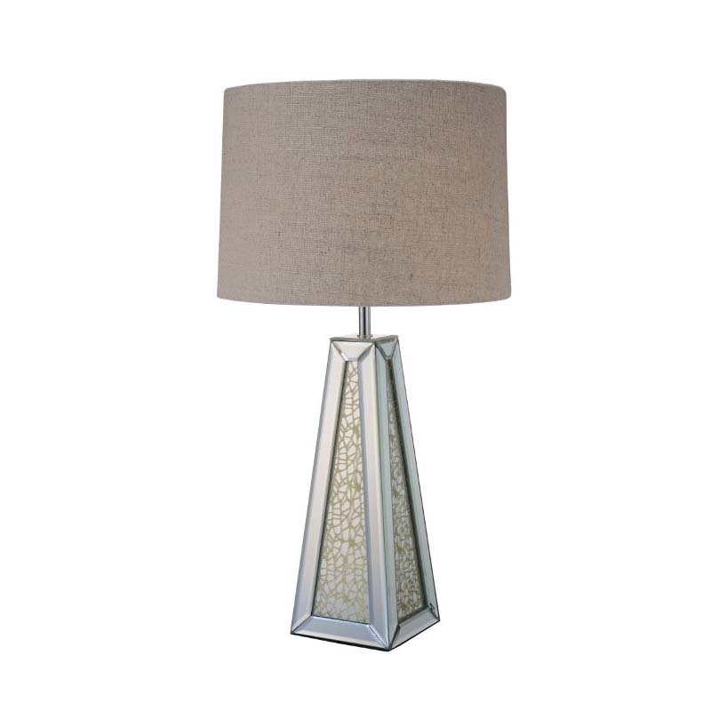 ACME Furniture Britt Table Lamp in Mirrored and Chrome (40123)