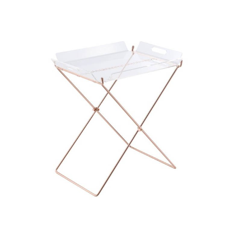 ACME Furniture Cercie Tray Table in Clear Acrylic and Copper (98189)