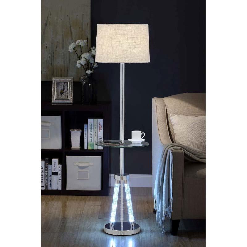 ACME Furniture Cici Floor Lamp in Chrome (40125)