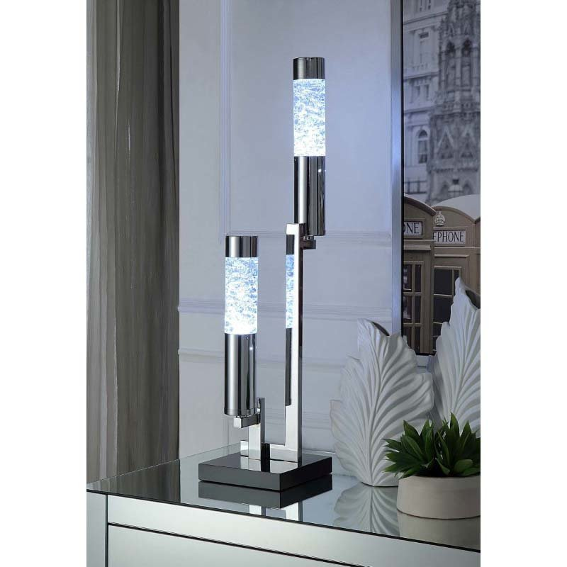 ACME Furniture Cici Table Lamp in Chrome (40129)