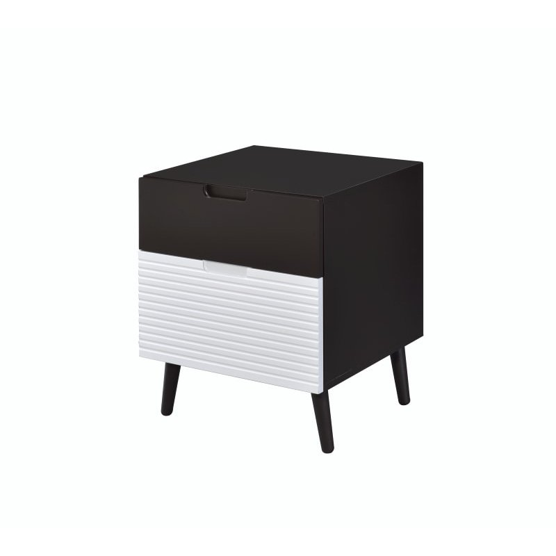 ACME Furniture Daysi Nightstand in 2-Tone Espresso and White (84622)