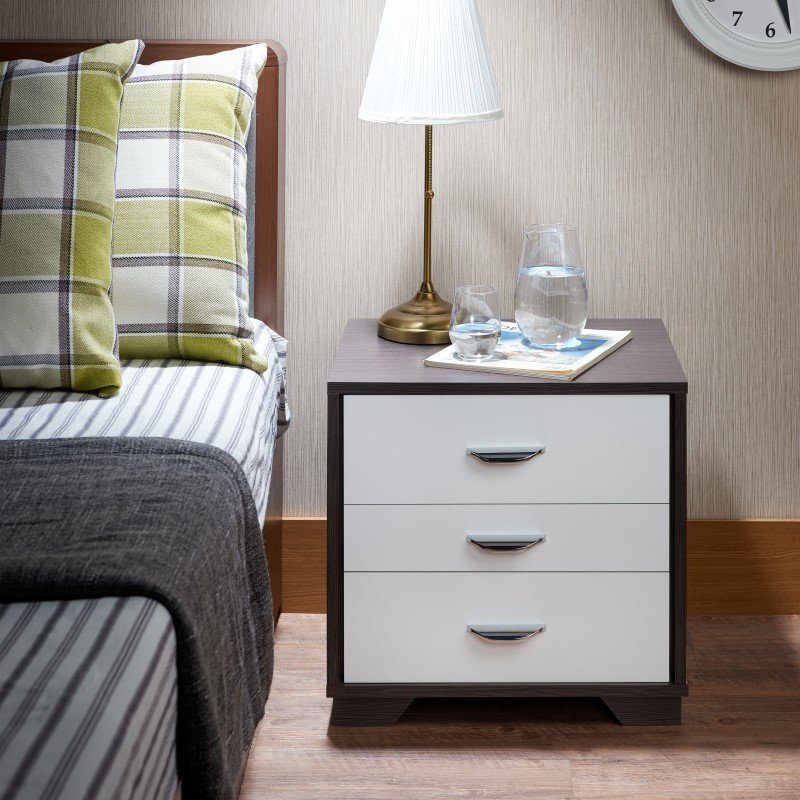 ACME Furniture Eloy Nightstand in White & Espresso (97342)