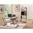 ACME Furniture Finis Leaning Bookcase in Light Oak and Black (92360)