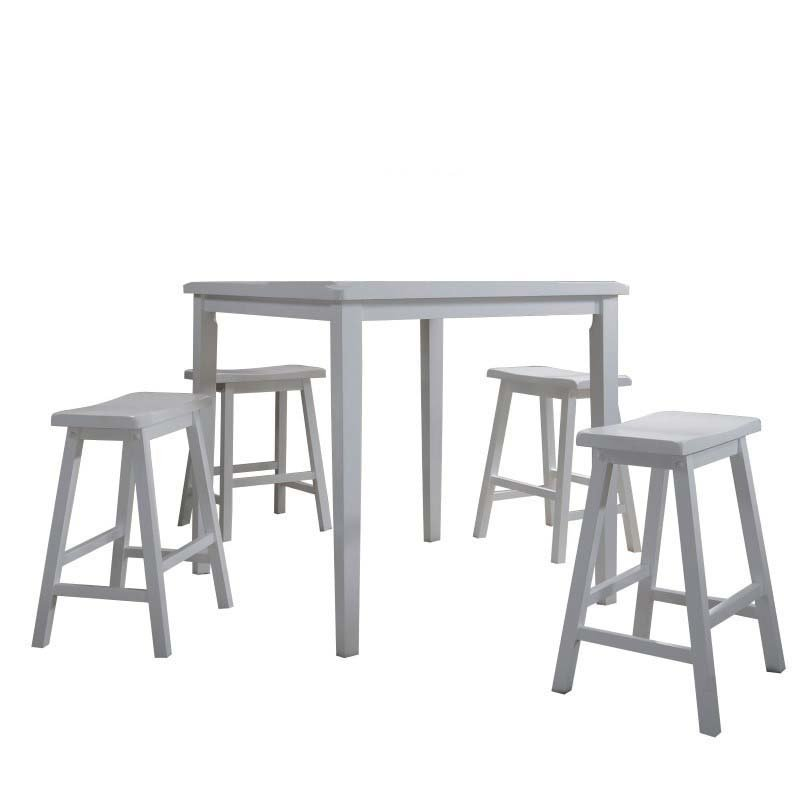 ACME Furniture Gaucho 5 Piece Counter Set in White (07289)