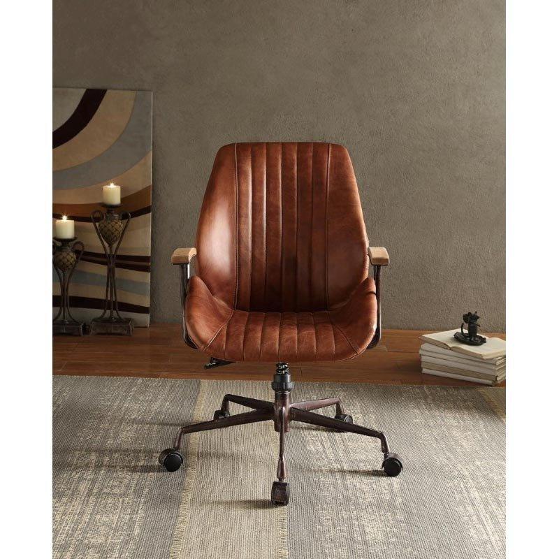 ACME Furniture Hamilton Top Grain Leather Office Chair in Cocoa (92413)
