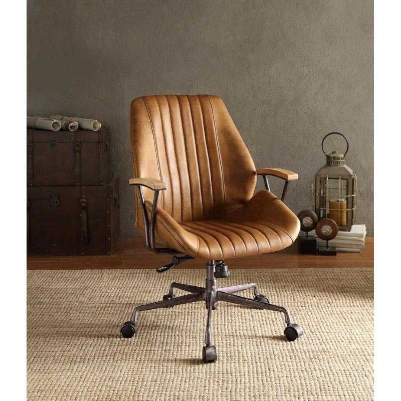 ACME Furniture Hamilton Top Grain Leather Office Chair in Coffee (92412)
