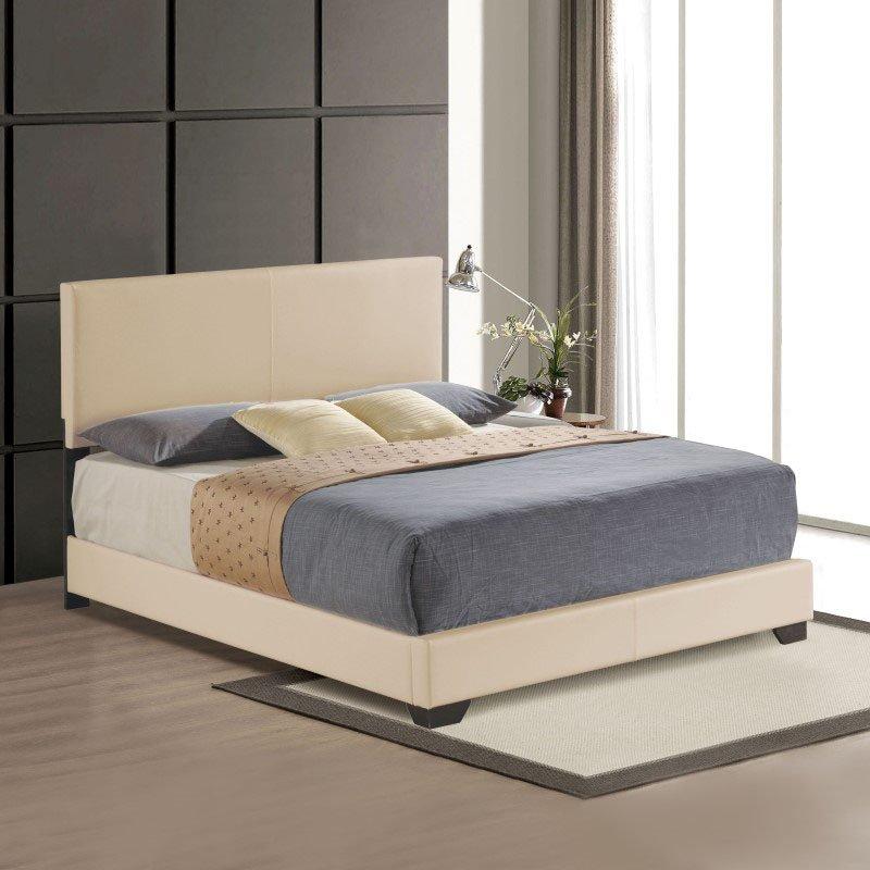 ACME Furniture Ireland Eastern King Bed in Beige Faux Leather (24277EK)