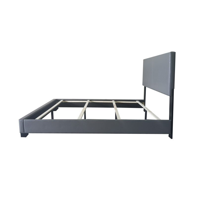 ACME Furniture Ireland Eastern King Bed in Gray Faux Leather (24317EK)
