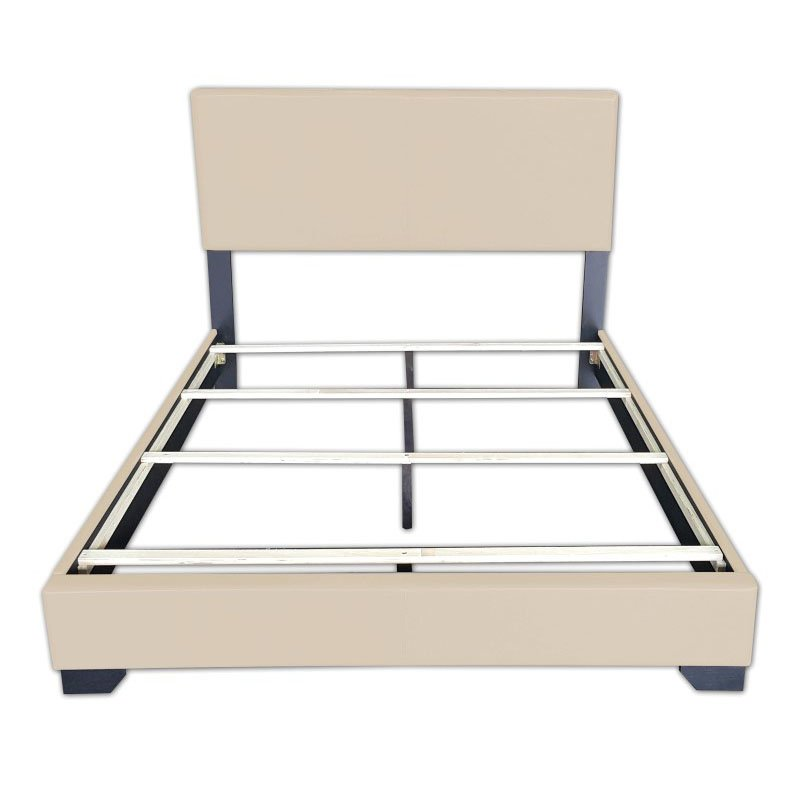 ACME Furniture Ireland Queen Bed in Beige Faux Leather (24280Q)