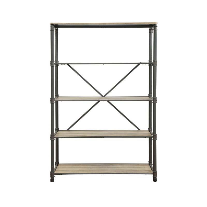 ACME Furniture Itzel Bookshelf in Sandy Gray and Oak (92200)