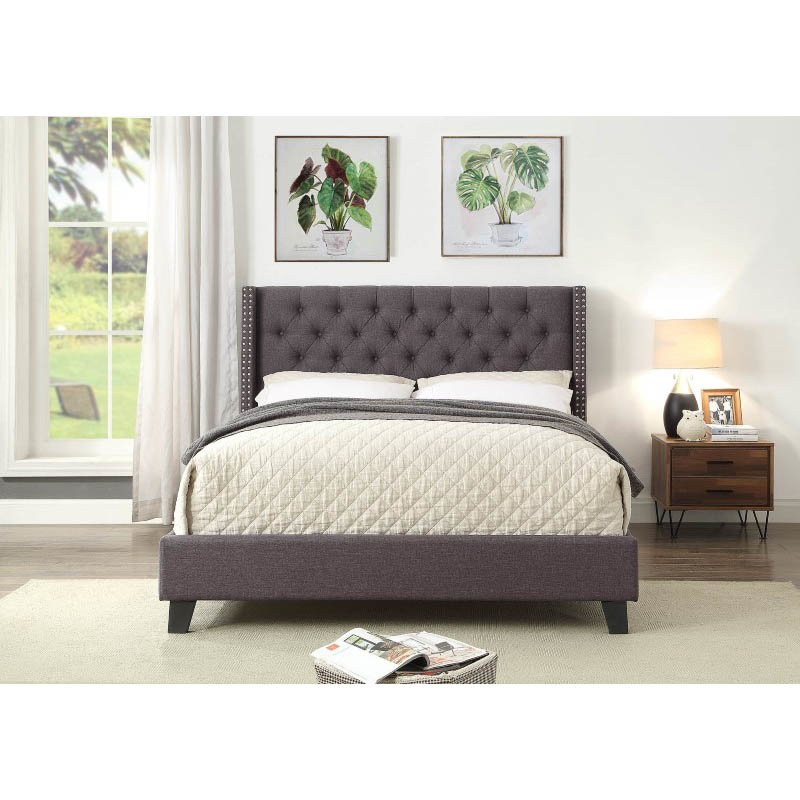 ACME Furniture Magnus Queen Bed in Gray Linen (26520Q)