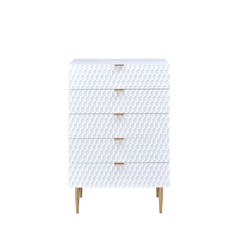 ACME Furniture Maisey Chest in White and Gold (97474)