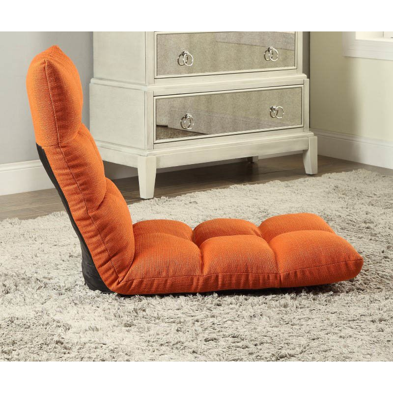 ACME Furniture Morris Gaming Floor Chair in Tangerine Linen (59608)