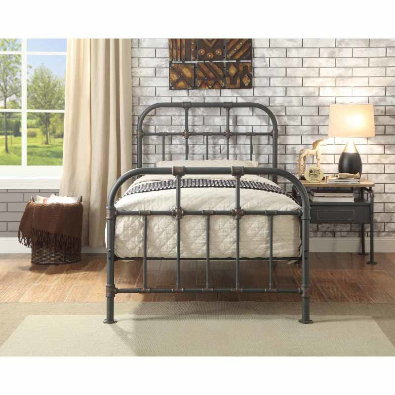 ACME Furniture Nicipolis Twin Bed in Sandy Gray (30730T)