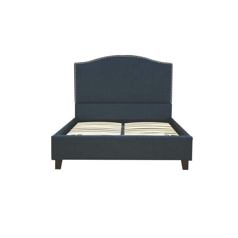 ACME Furniture Rouse Queen Bed in Dark Blue Linen (26430Q)