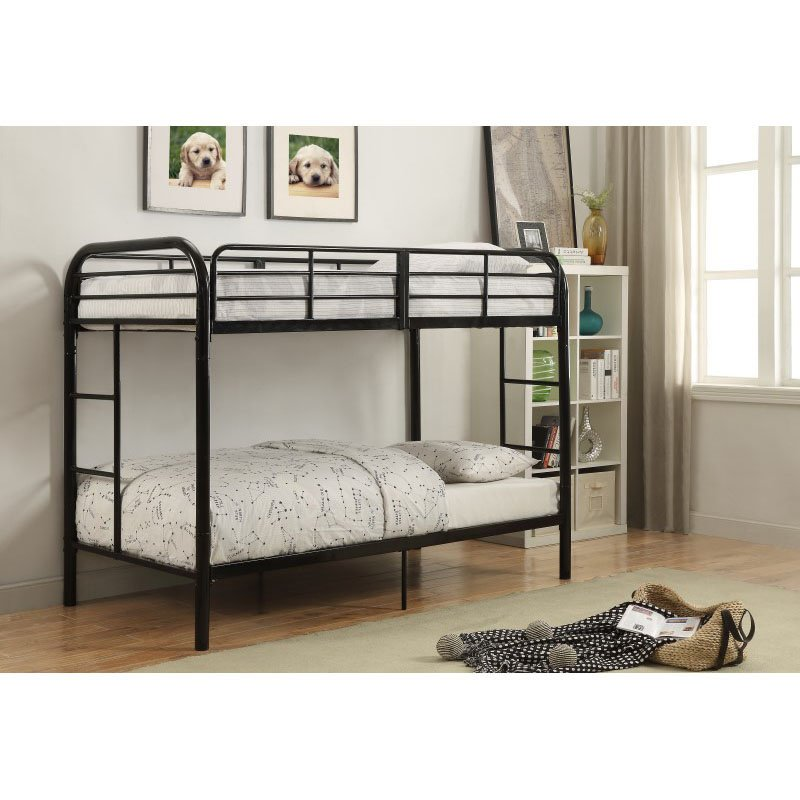 ACME Furniture Thomas Twin over Twin Bunk Bed in Black (02178BK)