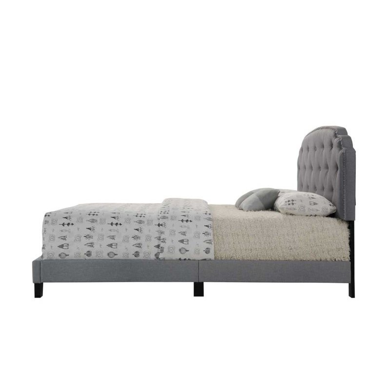 ACME Furniture Tradilla Queen Bed in Gray Fabric (26370Q)