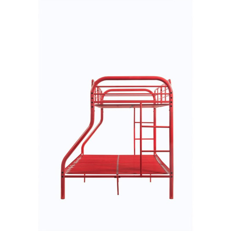 ACME Furniture Tritan Twin over Full Bunk Bed in Red (02043RD)