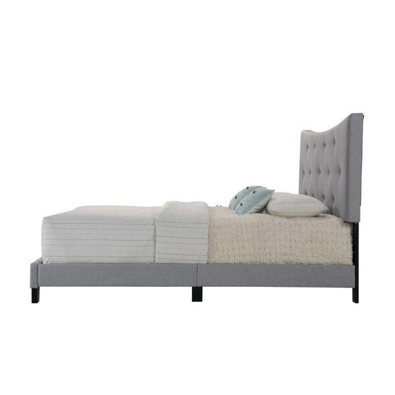 ACME Furniture Venacha Queen Bed in Gray Fabric (26360Q)