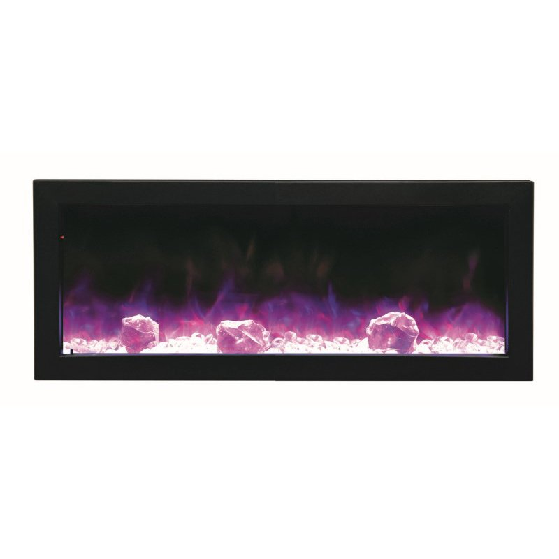 "Amantii 40"" Electric Slim Built-in only comes with optional Black Steel Surround (BI-40-SLIM)"