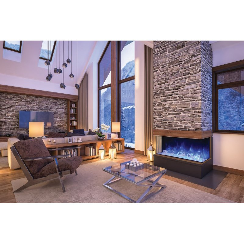 """Amantii 60"""" 3 Sided Glass Electric Fireplace Built-in only (60-TRU-VIEW-XL)"""
