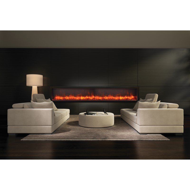 """Amantii 88"""" Electric Deep Built-in only comes with optional Black Steel Surround (BI-88-DEEP)"""