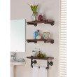 "Armen Living 20"" Conrad Industrial Pine Wood Floating Wall Shelf in Gray and Walnut Finish (LCCOSH20)"
