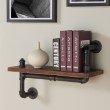 "Armen Living 24"" Montana Industrial Pine Wood Floating Wall Shelf in Gray and Walnut Finish (LCMOSH24)"