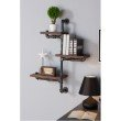 "Armen Living 30"" Orton Industrial Pine Wood Floating Wall Shelf in Gray and Walnut Finish (LCORSH30)"