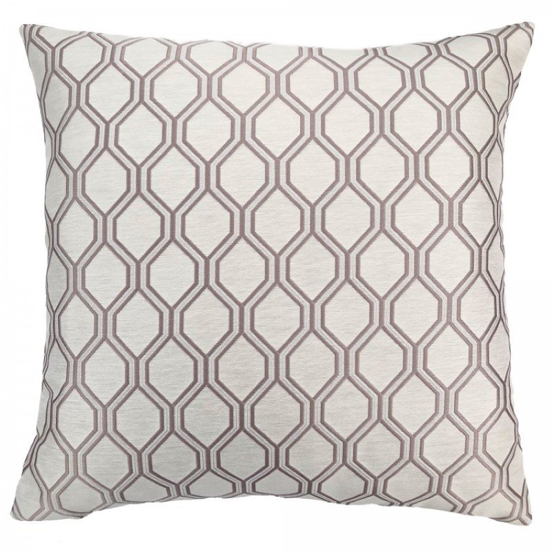 Armen Living Andante Contemporary Decorative Feather and Down Throw Pillow in Birch Jacquard Fabric (LCPIAN20BIRCH)