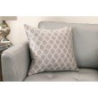 Armen Living Andante Contemporary Decorative Feather and Down Throw Pillow in Dove Jacquard Fabric (LCPIAN20DO)