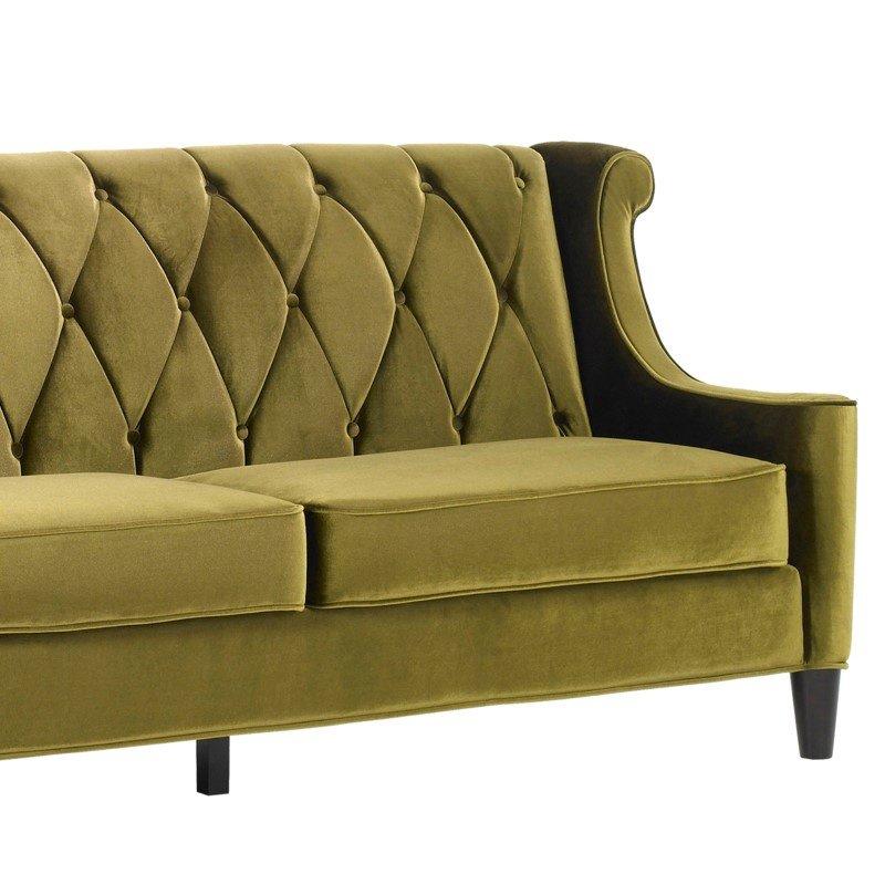 Armen Living Barrister Sofa In Green Velvet (LC8443GREEN)