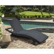 Armen Living Cabana Outdoor Adjustable Wicker Chaise Lounge Chair (LCCALOBL)